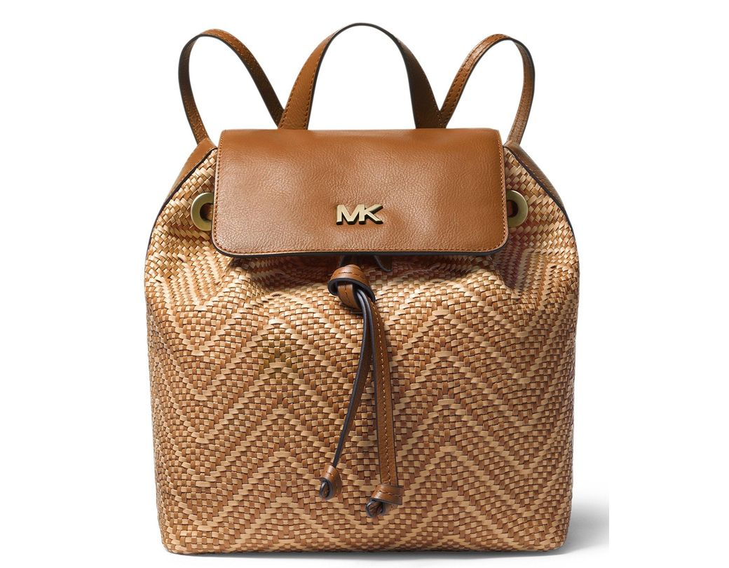 e989a5d377c6 Lyst - Michael Kors Michael Junie Chevron Leather Flap Backpack ...