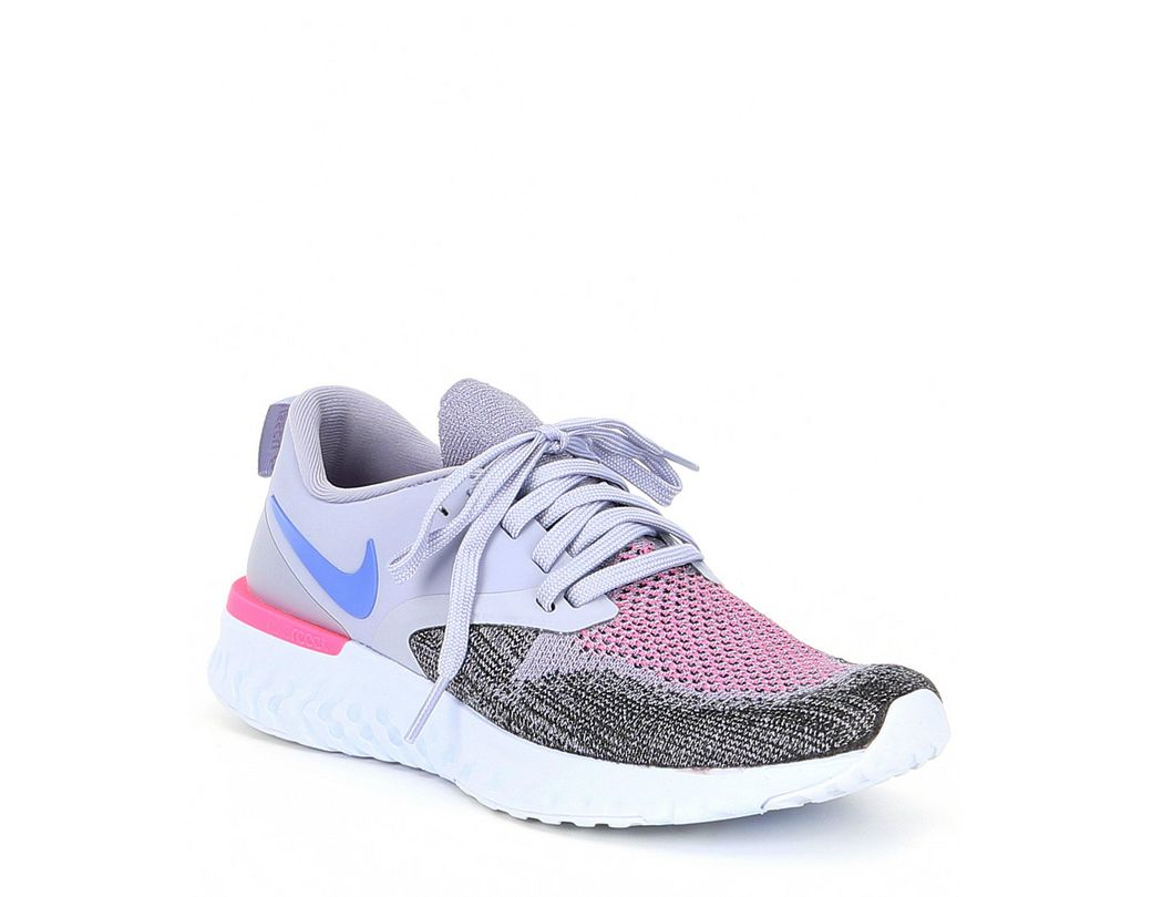 3c8e2c29bb6 Lyst - Nike Women s Odyssey React 2 Flyknit Running Shoe in Purple