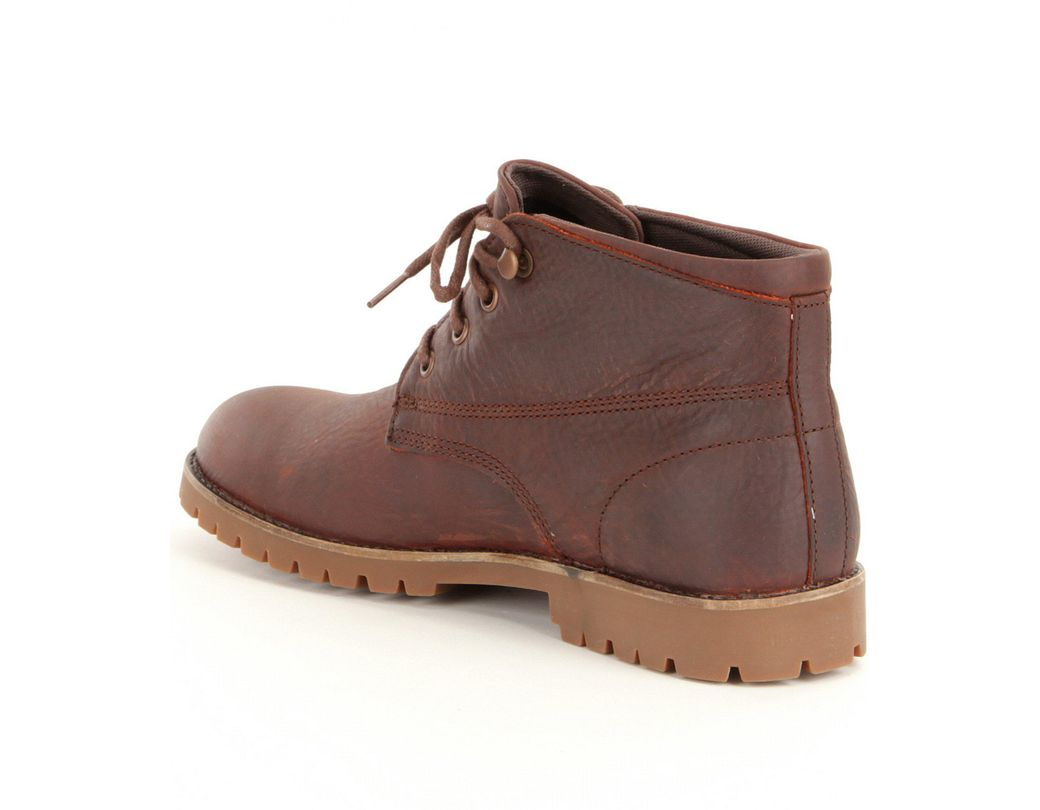 77cbe7c5003 Brown Cort Men's Leather Waterproof Lace-up Short Chukka Boots