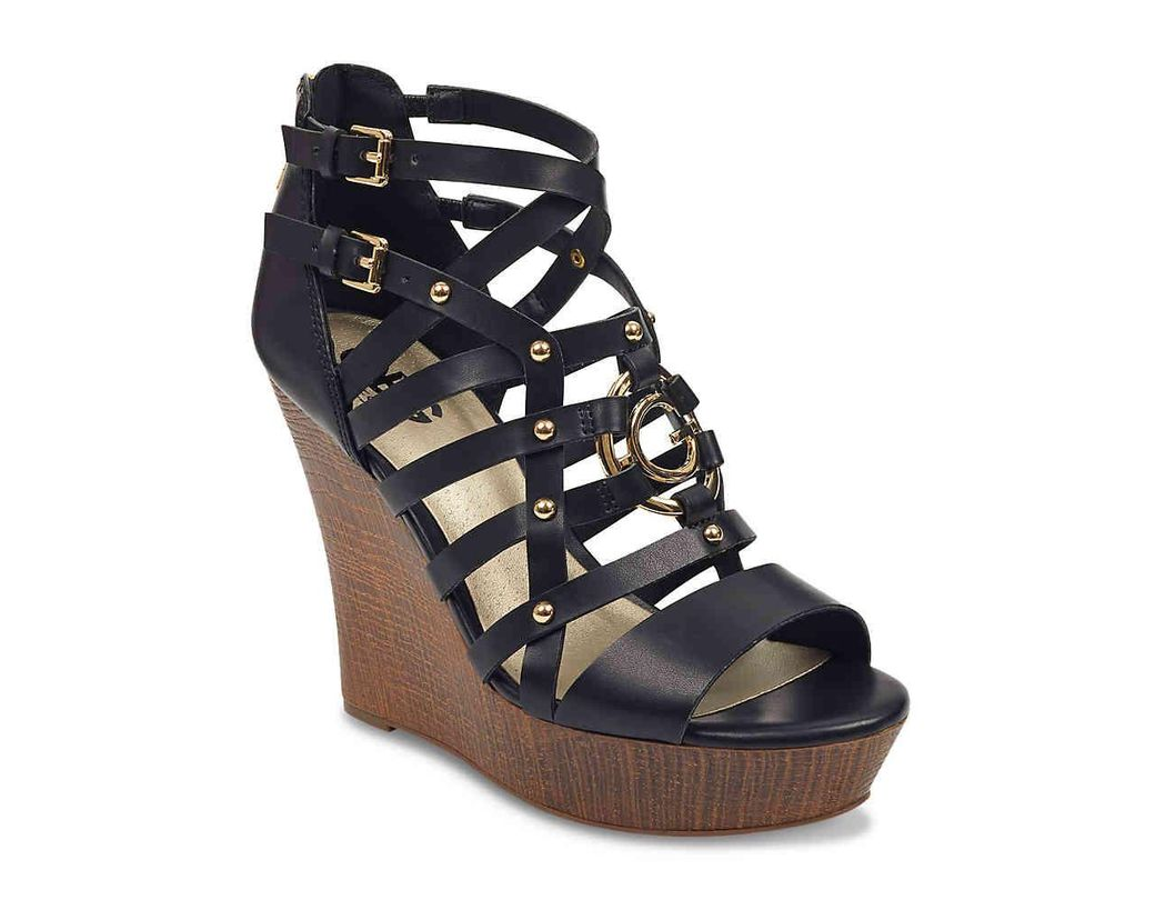 c695aa6caf1e Lyst - G by Guess Danee Wedge Sandal in Black