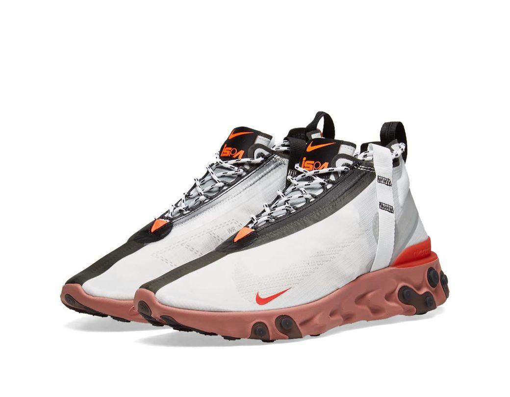 d37fe558e15 Lyst - Nike Ispa React Runner Mid Wr Sneakers in White for Men ...