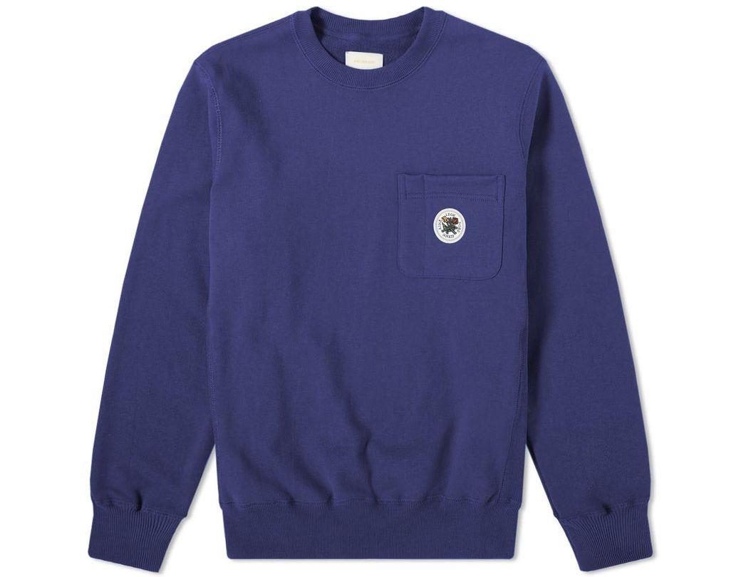 5261ee8be2204 Aimé Leon Dore Pocket Crew Sweat in Blue for Men - Lyst
