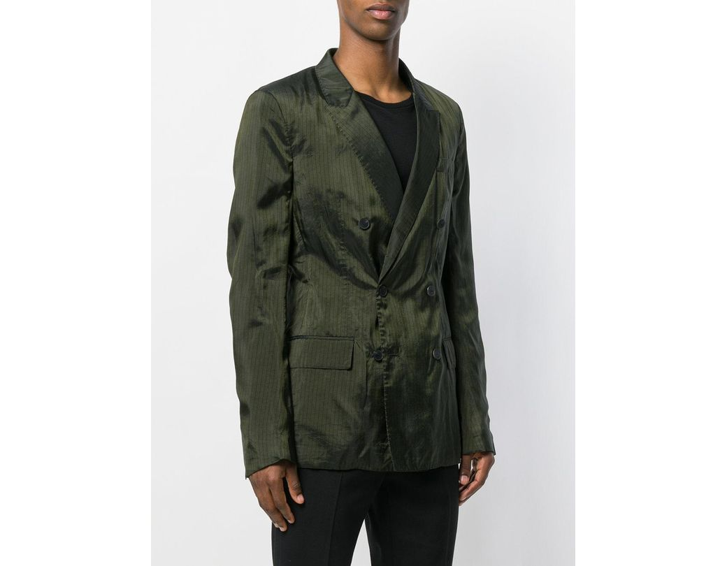 ede636f21 Men's Green Double-breasted Jacket