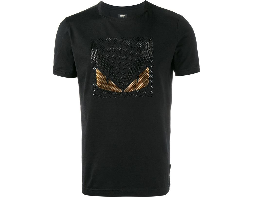 69b88d417bb9 Fendi Bag Bugs Crystal Embellished T-shirt in Black for Men - Save 9 ...