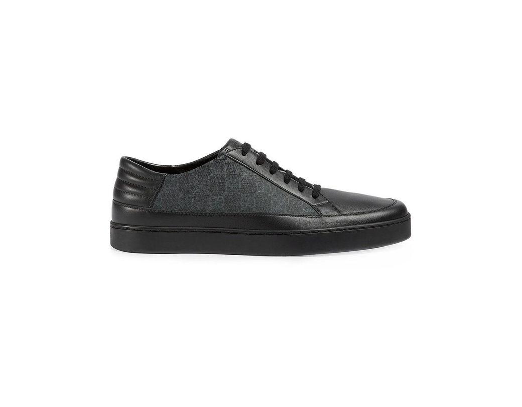 a444713fc7d8a Gucci Sneaker Bassa In Tessuto Gg Supreme in Black for Men - Save 32 ...