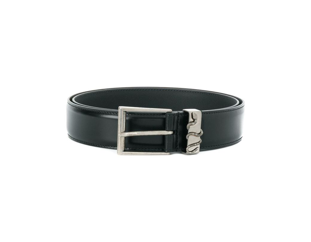 1f415cbc7d0 Lyst - Gucci Snake Buckle Belt in Black for Men - Save 20%