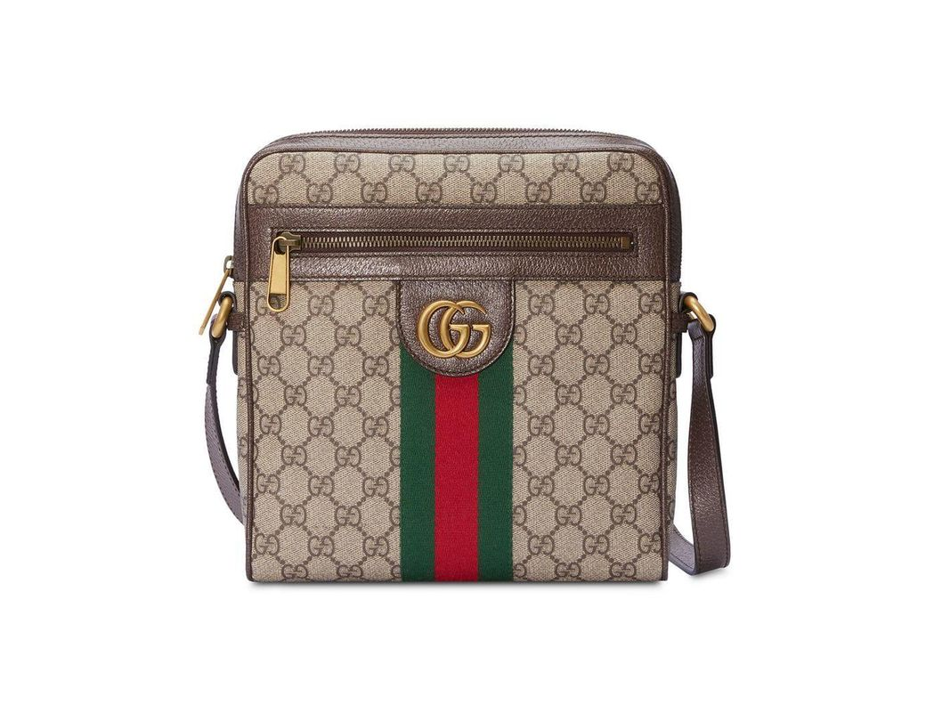 623c7c7b8e5 Lyst - Gucci Ophidia GG Small Messenger Bag in Brown for Men