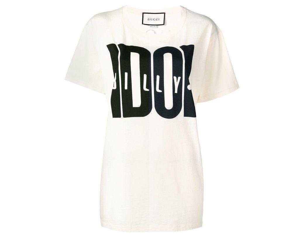 ecd51b00908 Lyst - Gucci Billy Idol Print T-shirt in White