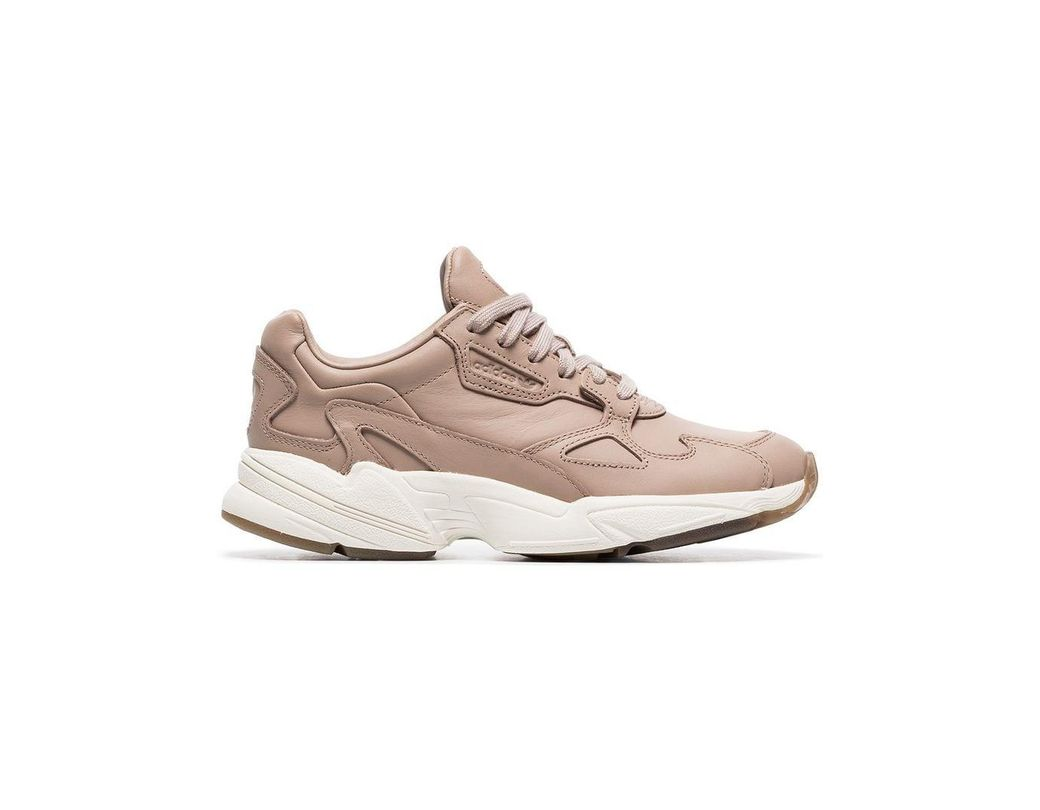 e69c93fd0 Lyst - adidas Nude Falcon Low Top Leather Sneakers in Pink