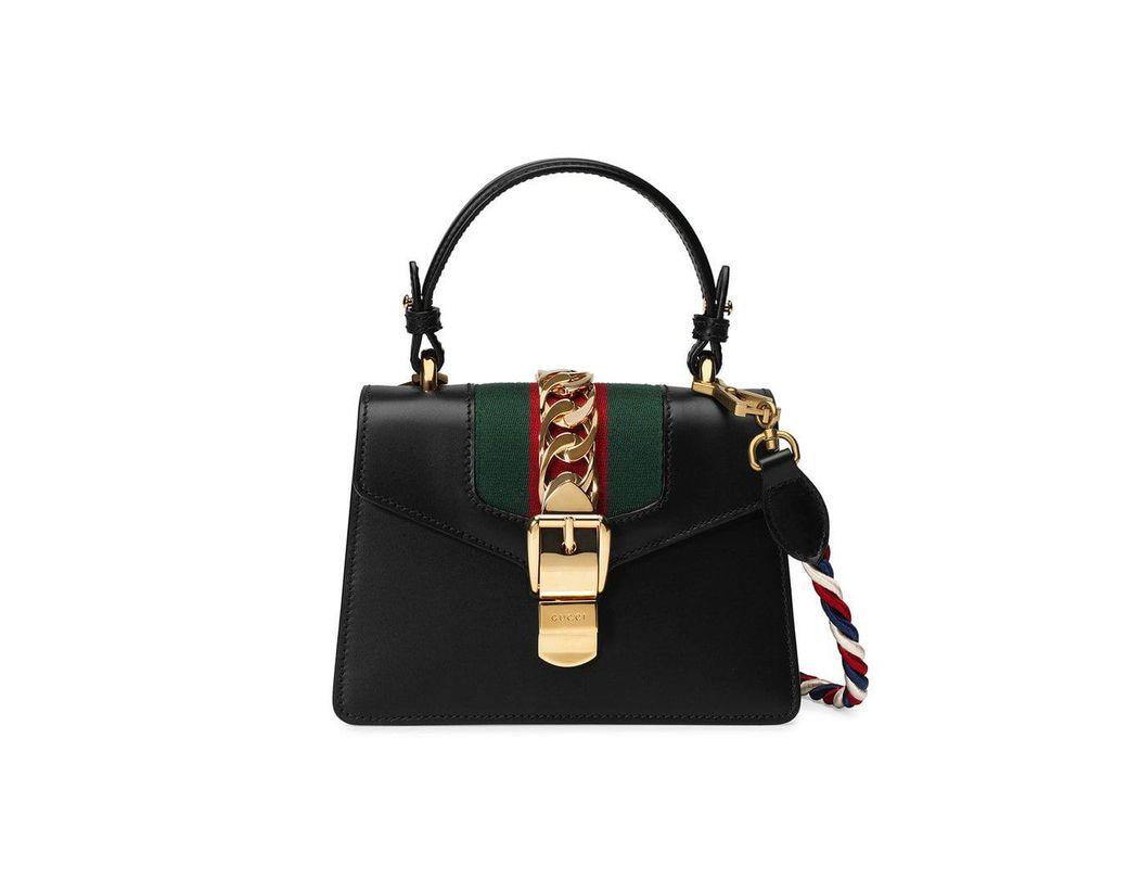9eb3f12a93c Lyst - Gucci Black Sylvie Mini Bag in Black - Save 14%
