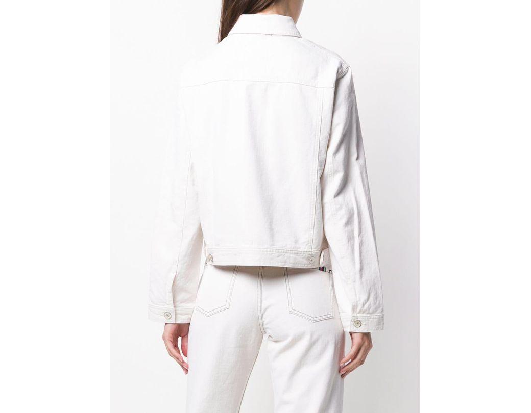 Oscar de la renta flower appliqué sweater in white lyst