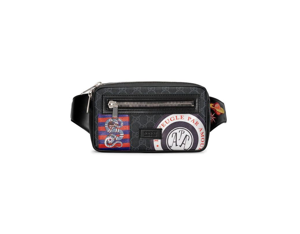 d3ed9b00cbf08 Gucci Night Courrier Soft GG Supreme Belt Bag in Black for Men - Lyst