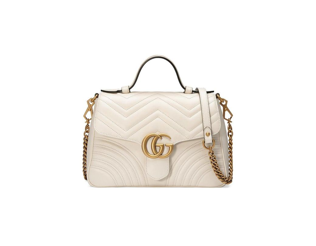 4ae400082a7 Gucci White GG Marmont Small Tote Bag in White - Save 28% - Lyst