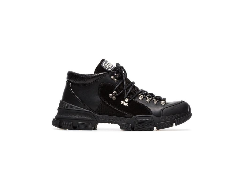 8a15c6674fd Gucci All Black Flashtrek Sneakers in Black for Men - Lyst
