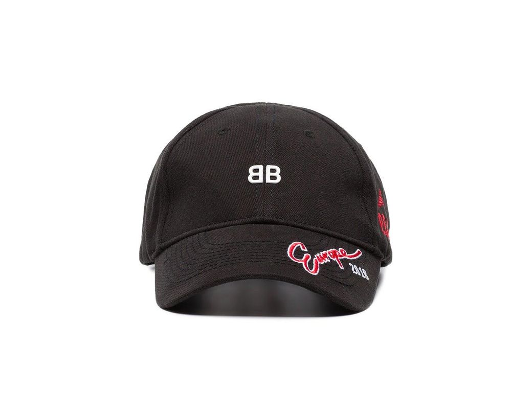 1b951fd4 Balenciaga Black Bb Europe Embroidered Cap in Black for Men - Save 36% -  Lyst