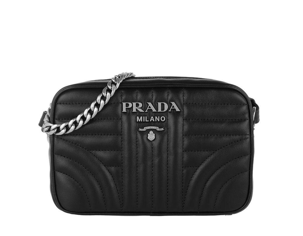 942a8aab25b6 Prada Diagramme Large Camera Bag Black2 in Black - Save 30% - Lyst
