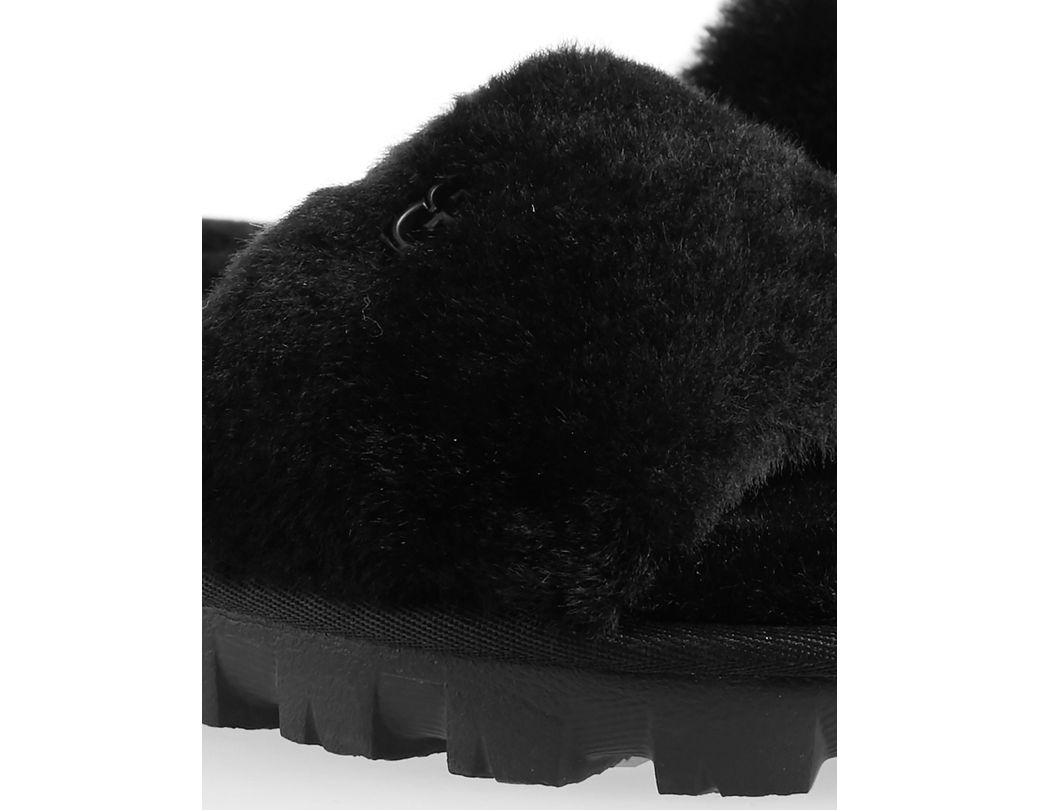 ccdde5bf9f9 Women's Black Cozette Fluff Slider