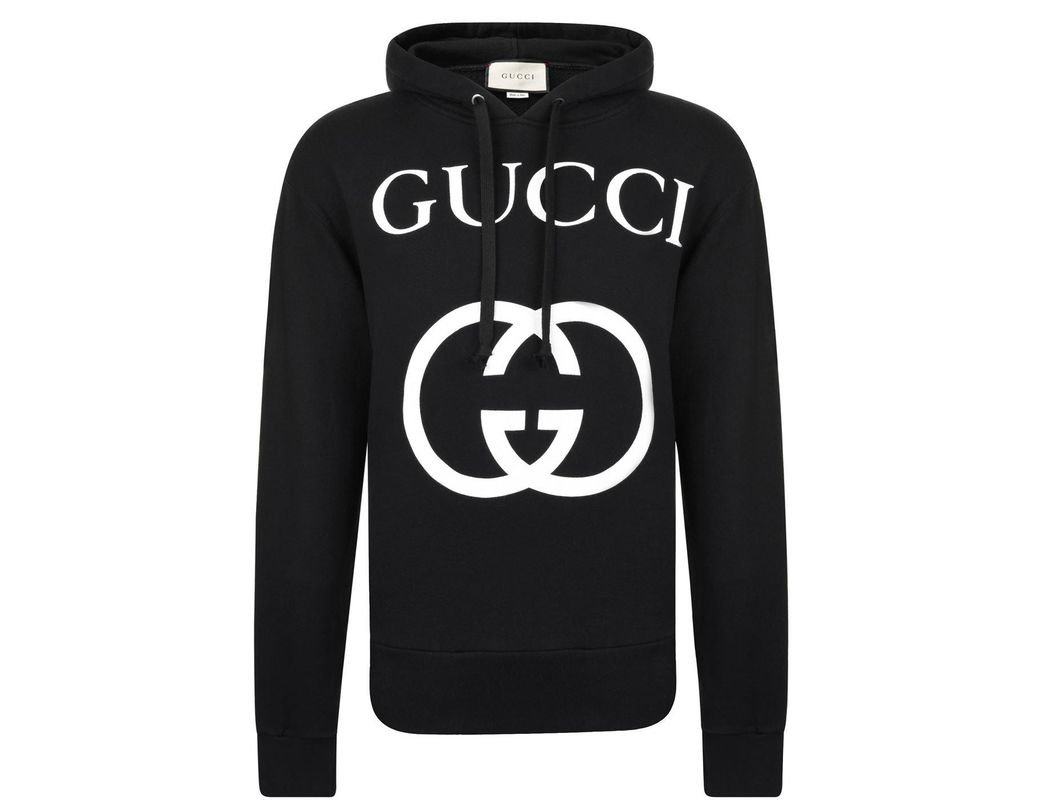 01012e7b56c Gucci Gg Hooded Sweatshirt in Black for Men - Save 30% - Lyst