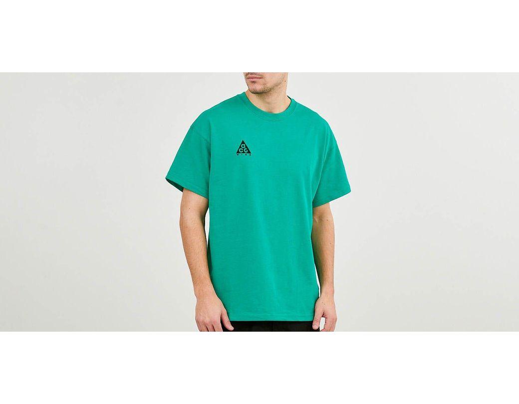 96e817552ff1f1 Lyst - Nike Acg Logo Tee Nrg Lucid Green  Black in Green for Men