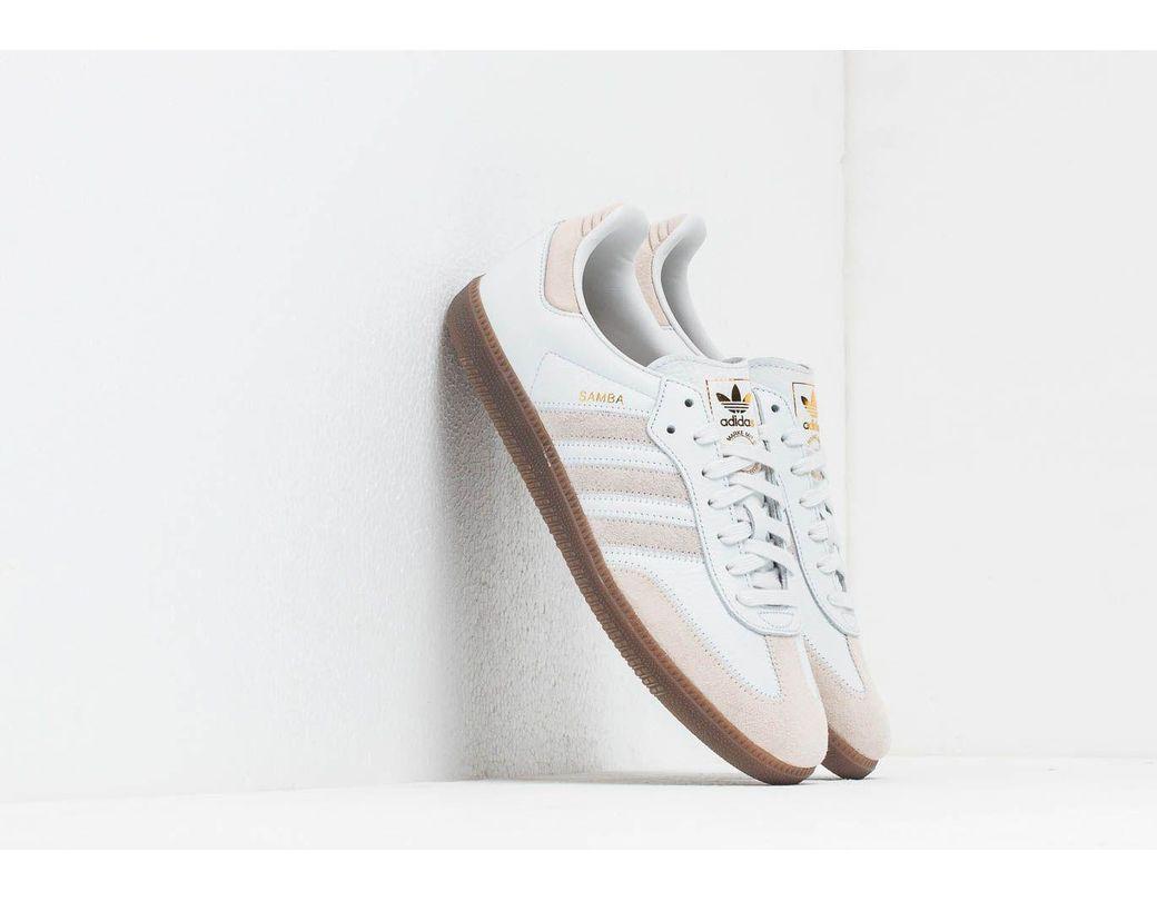 426413cea9862 Lyst - adidas Originals Adidas Samba Og Ft Crystal White  Raw White ...