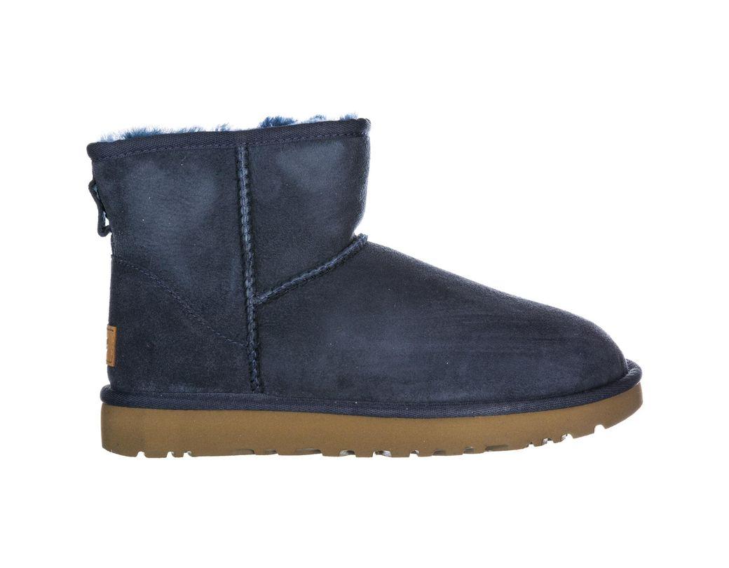 f1c8cace15f Lyst - UGG Suede Boots Classic Mini Ii in Blue
