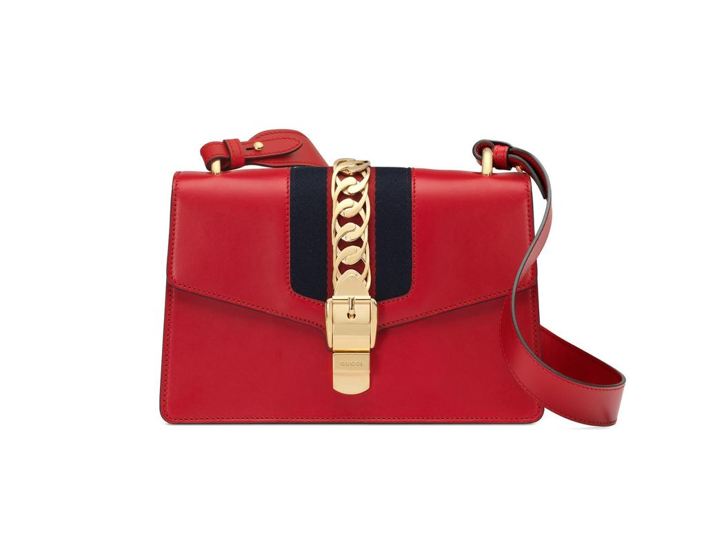 e217d92852e Lyst - Gucci Sylvie Small Shoulder Bag in Red