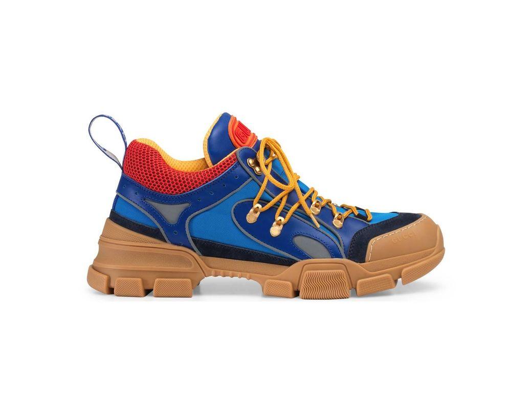 a0485384e38e Lyst - Gucci Flashtrek Sneakers in Blue for Men