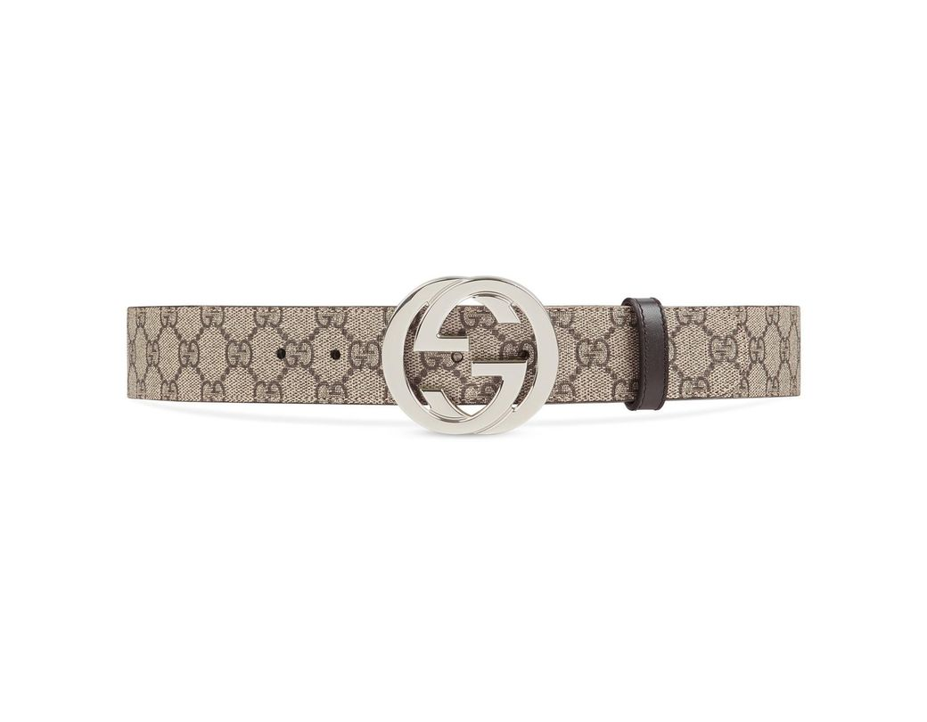 acd148bf30b Lyst - Gucci GG Supreme Belt With G Buckle in Natural for Men - Save 16%