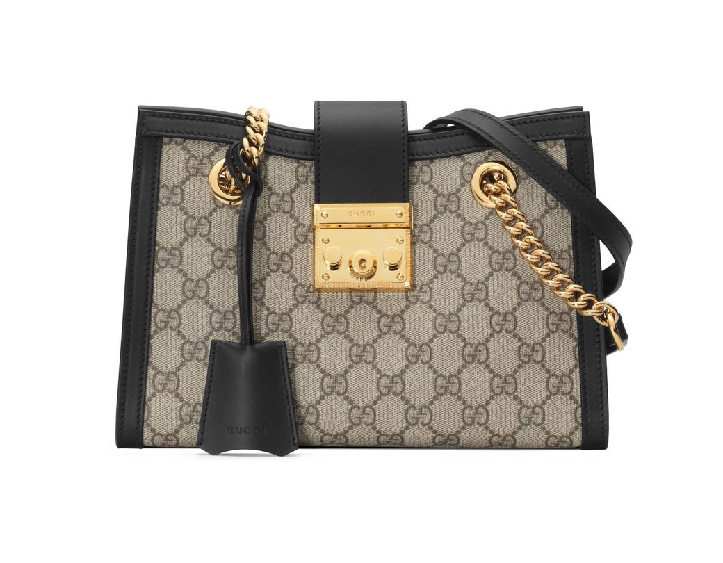 10d5616355e Gucci Padlock Small GG Shoulder Bag in Natural - Lyst