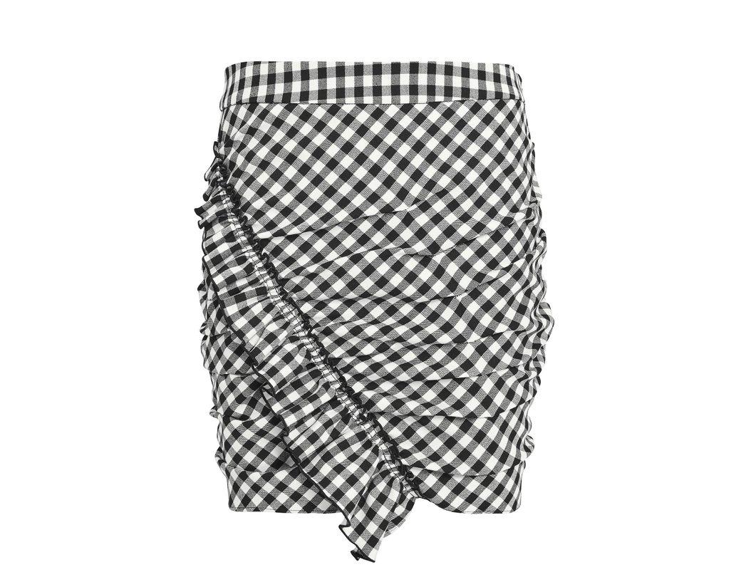 214ec31c9 10 Crosby Derek Lam Gingham Mini Skirt Black/white 8 in Black - Lyst