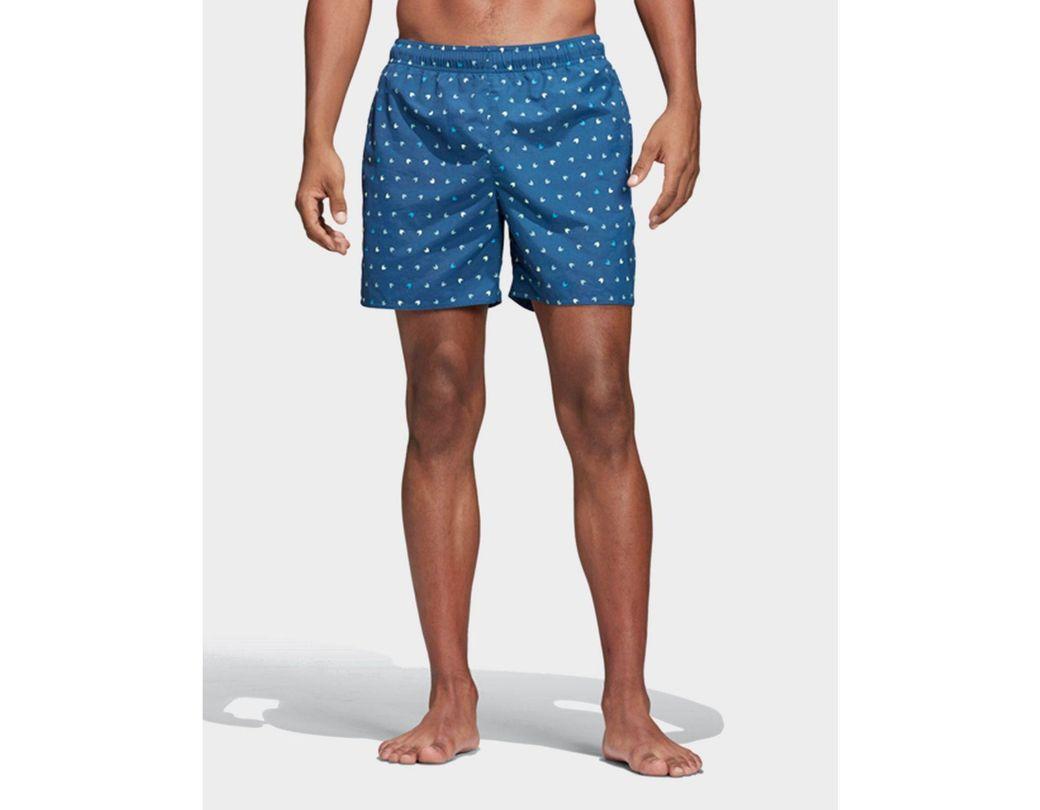 a4b72be37d adidas Originals Allover Print Swim Shorts in Blue for Men - Lyst