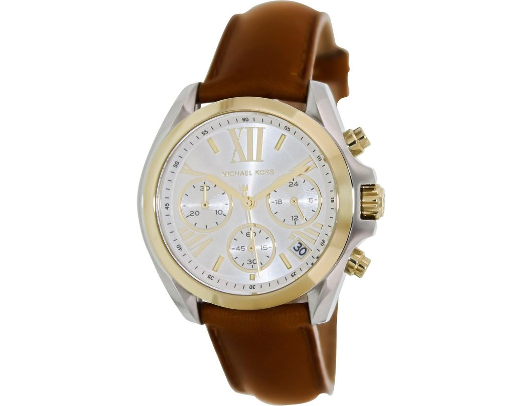 1819692725cd Lyst - Michael Kors Mk2301 Bradshaw Watch in Brown