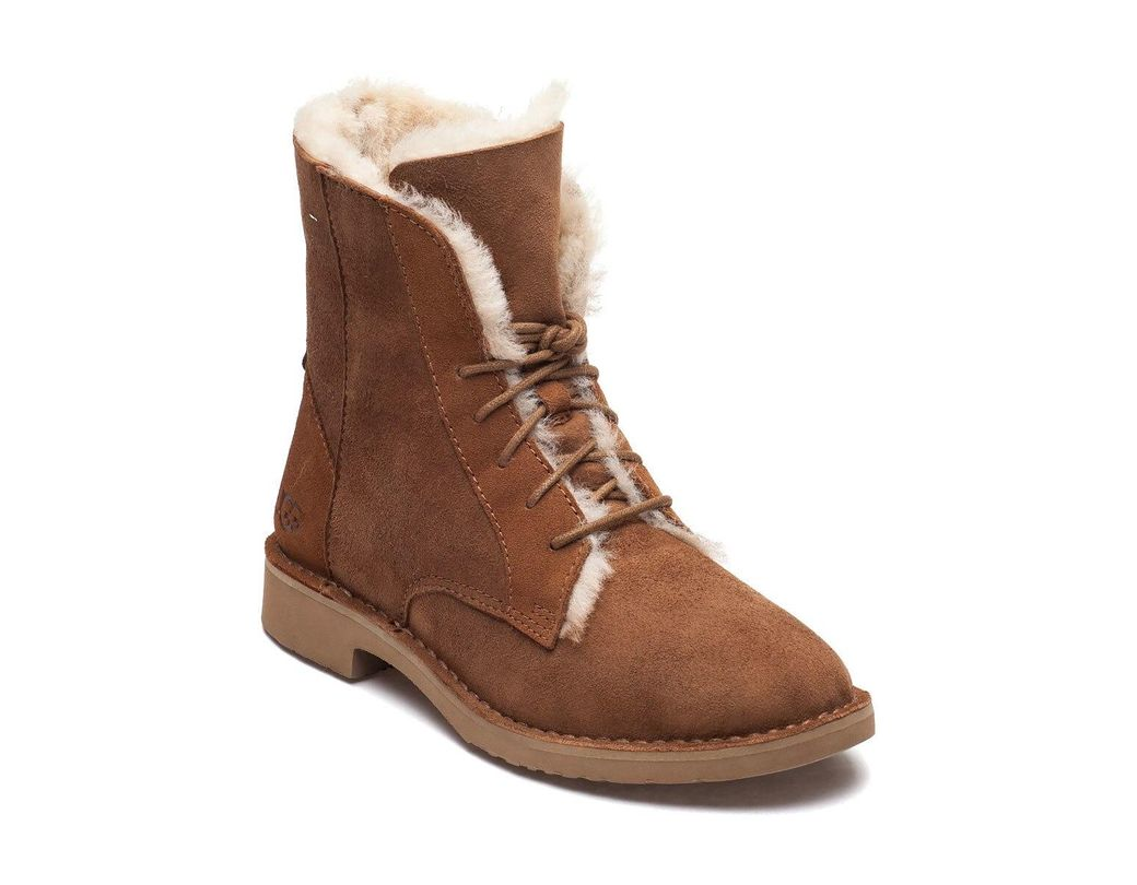 56d04f2c159 Women's Brown Quincy Chestnut Suede Lace Up Boot