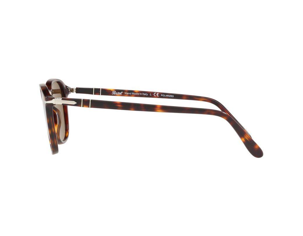 b28e44e09001 Persol Po3186s Polarised Square Sunglasses in Brown for Men - Save 7% - Lyst