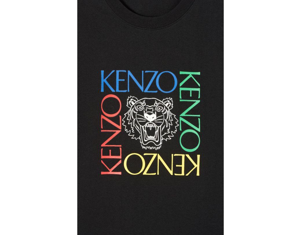 7d710d38a5 Men's Black 'tiger Square' T-shirt