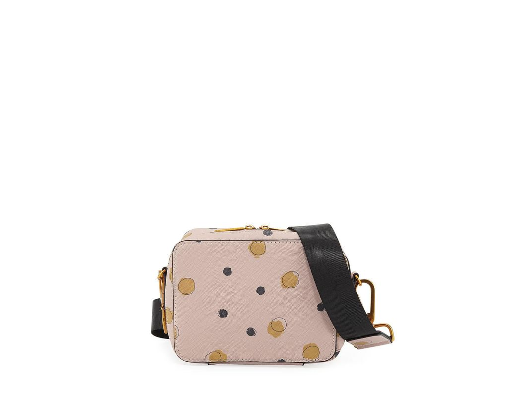 e0ee8048c2d Lyst - Neiman Marcus Dotted Faux-saffiano Crossbody Bag