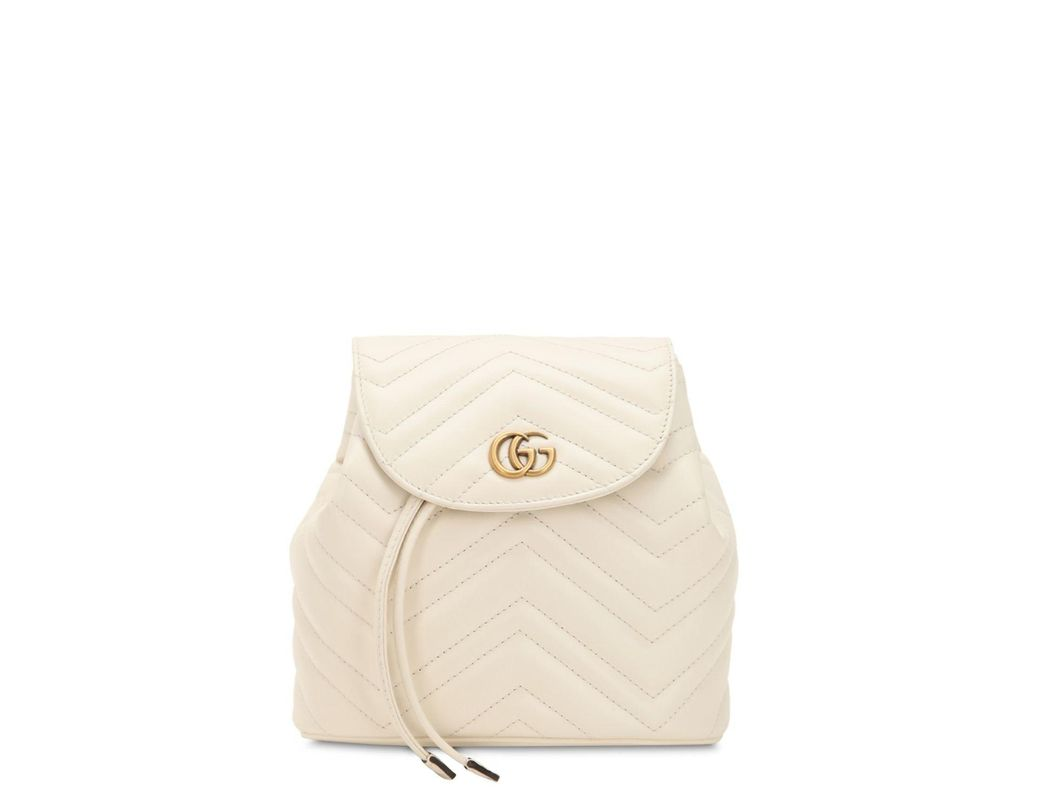 bbfdce18678 Lyst - Gucci Mini Gg Marmont Leather Backpack in White