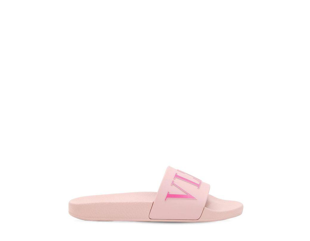 1bf5a77cb32e Lyst - Valentino Garavani Vltn Slides in Pink - Save 24%