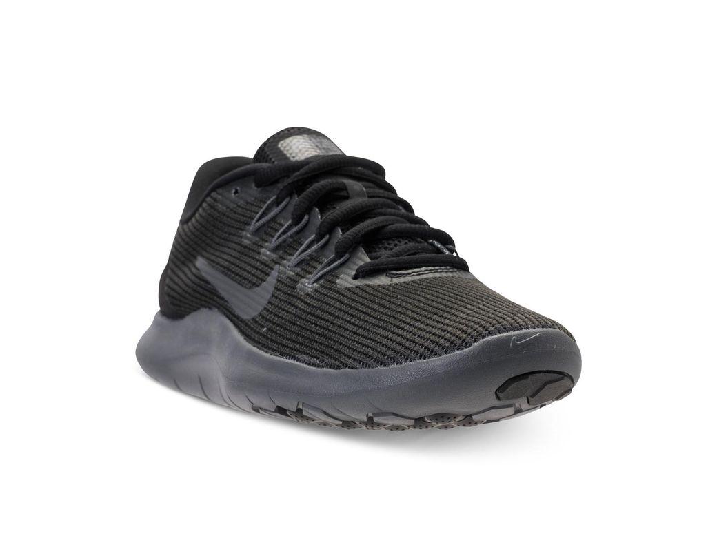 b4f0f9b6cbc5 Lyst - Nike Flex Rn 2018 Running Sneakers From Finish Line in Black