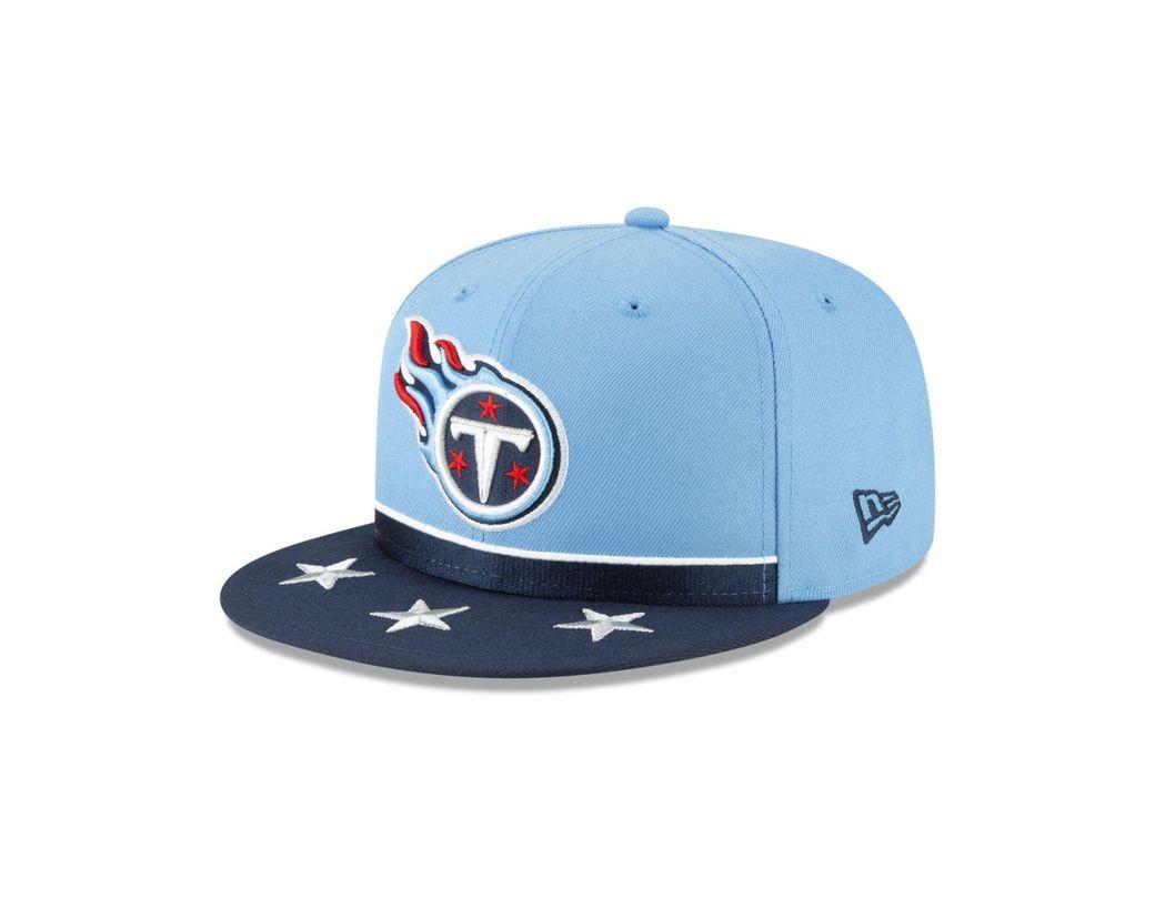 best website d22b6 d9d5b KTZ. Men s Blue Tennessee Titans Draft 9fifty Snapback Cap