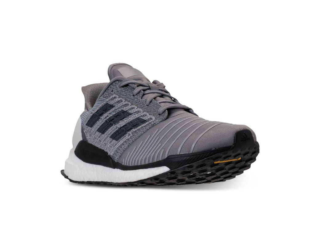 5ae59ed13 Lyst - adidas Solar Boost Running Sneakers From Finish Line in Gray ...