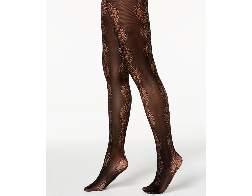 6c51e1a65d13d Lyst - INC International Concepts I.n.c. Lace Pattern Tights ...