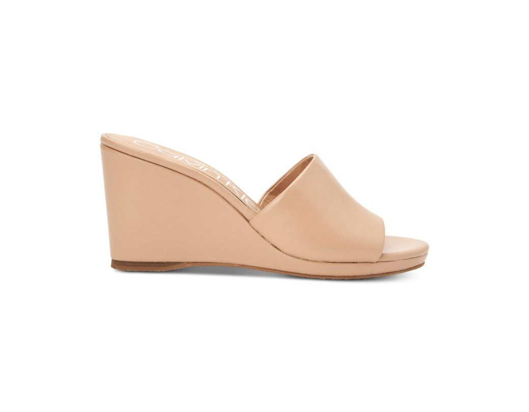 4244147ce3 Calvin Klein Britta Wedge Sandals, Created For Macy's in Natural - Lyst