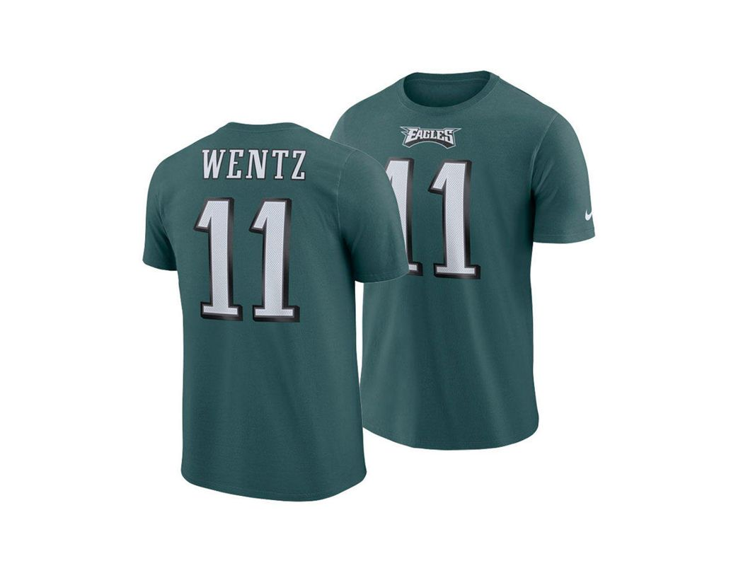 bf1d7263 Men's Green Carson Wentz Philadelphia Eagles Player Pride Name And Number  T-shirt
