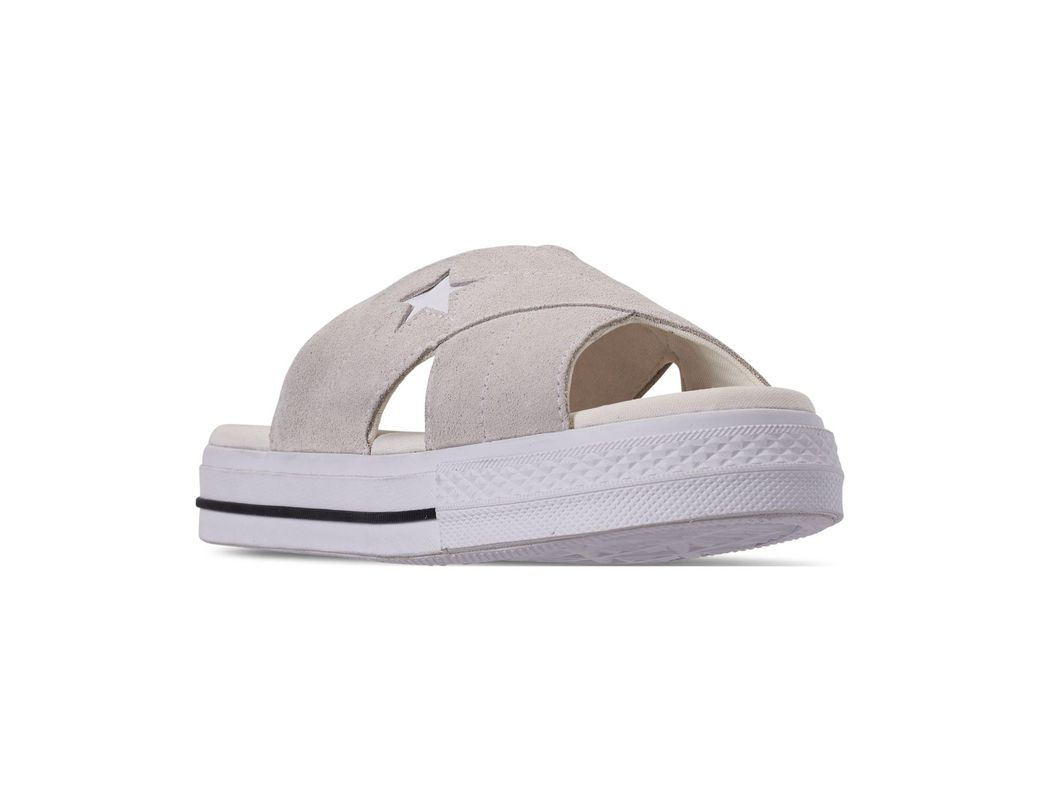 08e5d27876e0 Lyst - Converse One Star Slip Athletic Slide Sandals From Finish ...