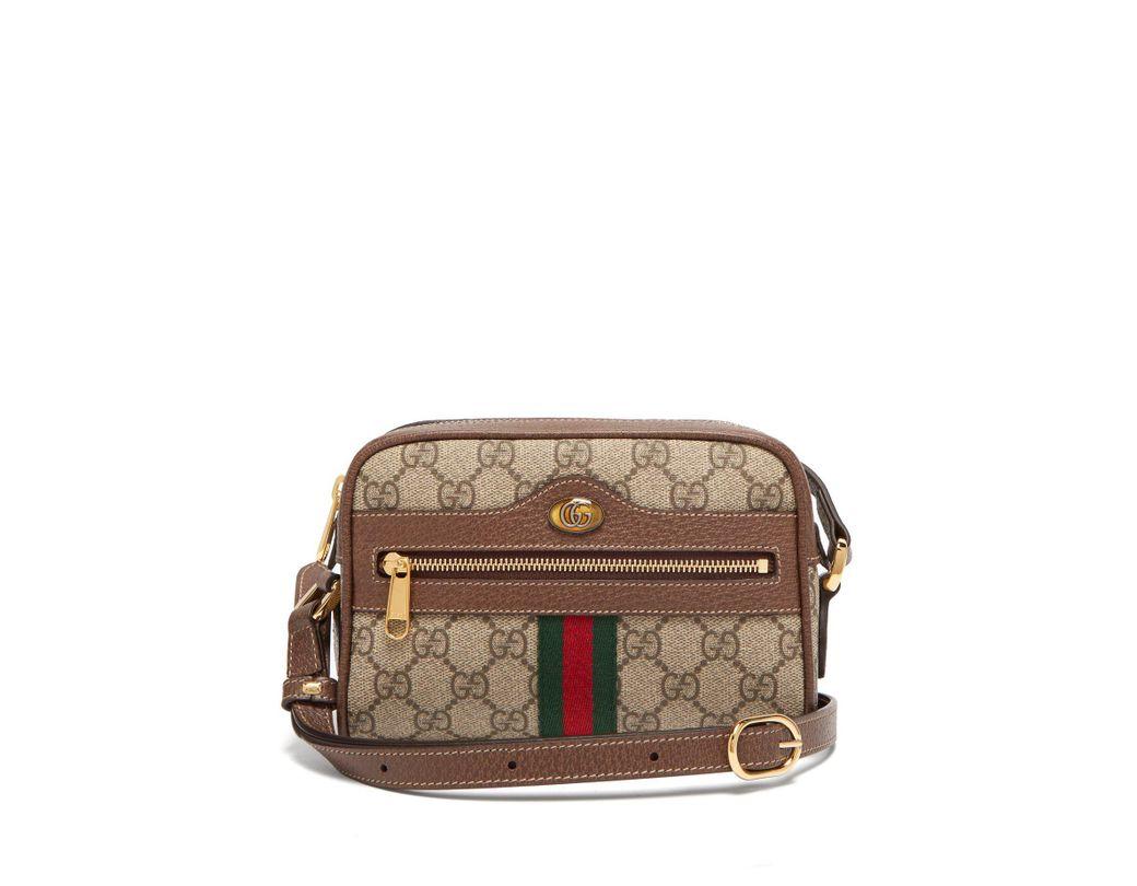 e3fdb6c737e Lyst - Gucci Ophidia Gg Supreme Cross Body Mini Bag in Gray