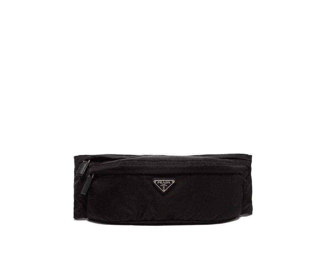 63f89e313980 Lyst - Prada Logo Nylon Belt Bag in Black for Men - Save 5%