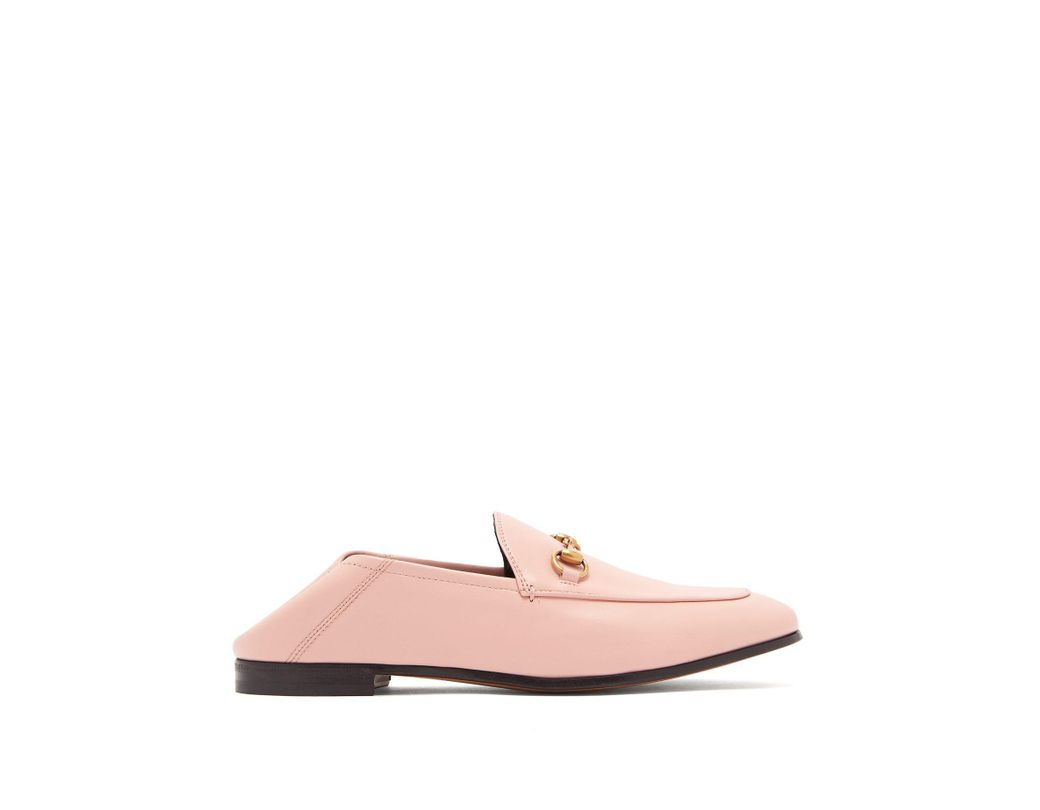 ad799f0b134 Lyst - Gucci Leather Horsebit Loafer in Pink