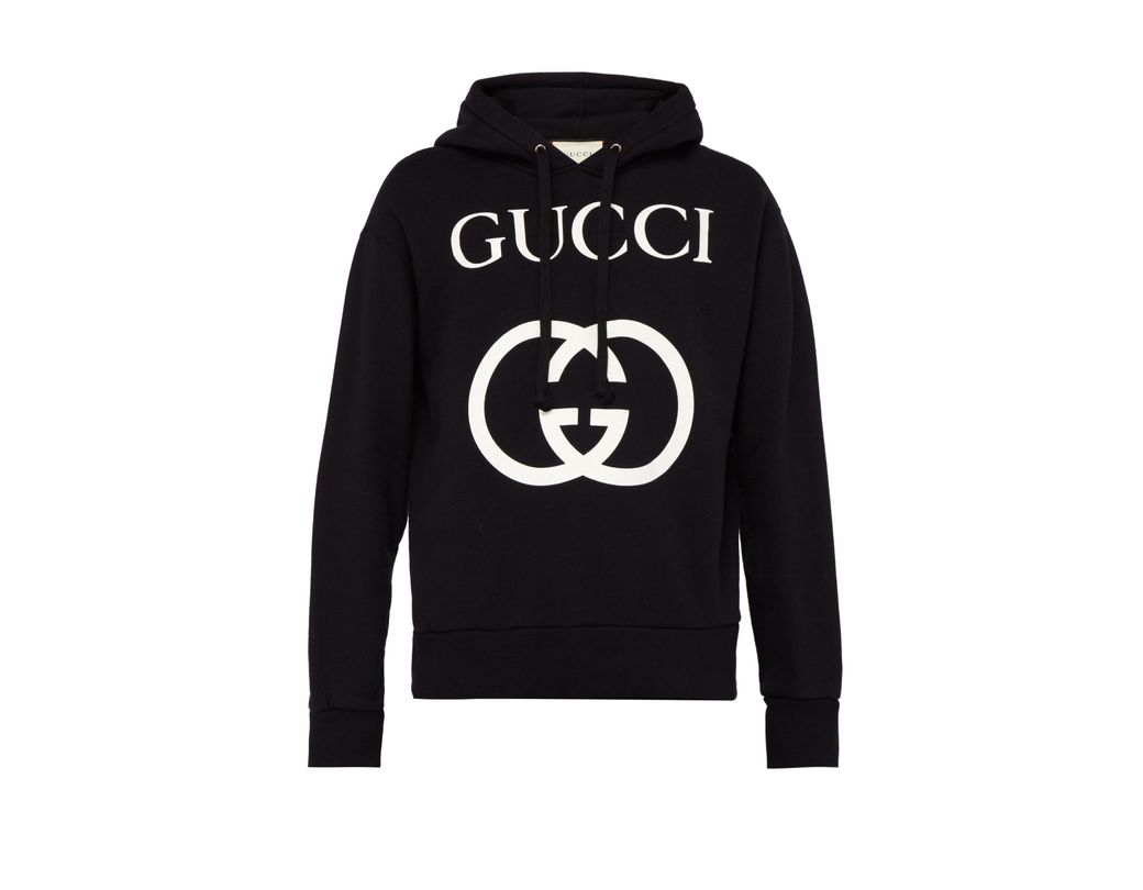 923e167d685 Gucci Gg Loop Back Cotton Hooded Sweatshirt in Black for Men - Save ...