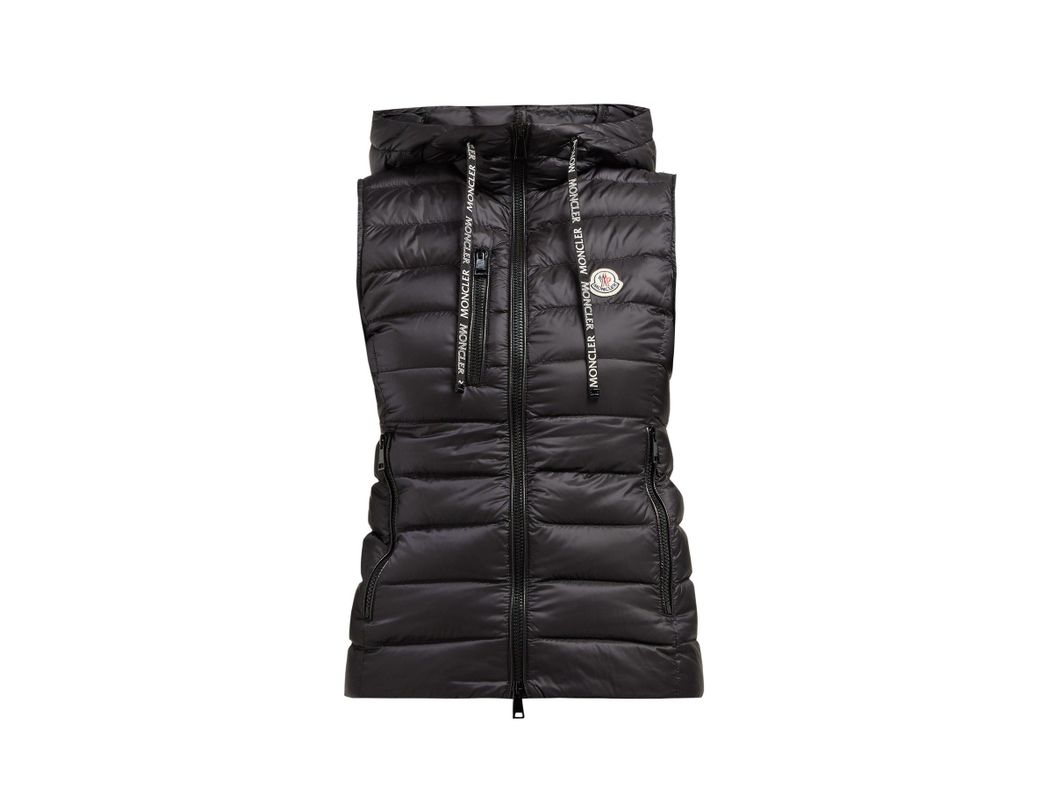 7a8137718 Women's Black Sucrette Hooded Quilted Down Gilet
